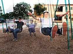 Who the #$&%*! are the Young? Swing Town: (l-r) Kyle Edwards, Ryan Maloney, Lucas Wedow, Hans Zimmerman