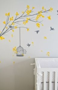 Amarillo y gris, pájaros