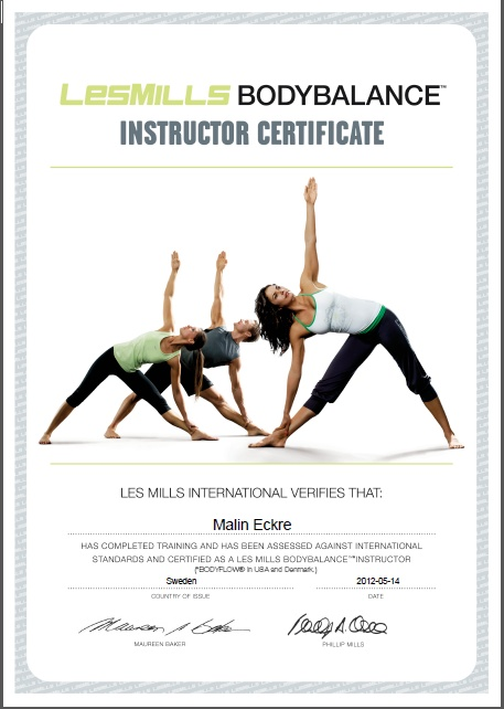 Pin by Maria Kleine on Les Mills | Pinterest | Certificate and Workout
