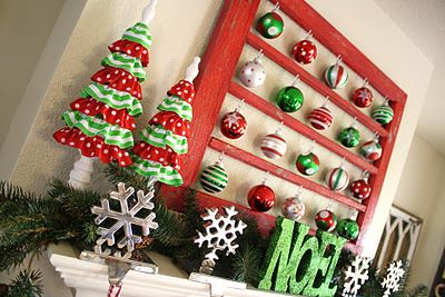 Christmas in July - Cherished Bliss: Holiday, Christmas Decorations, Old Windows, Diamond, Diy, Christmas Ideas, Mantel Decorations, Christmas Crafts Decorations, Christmas Mantels