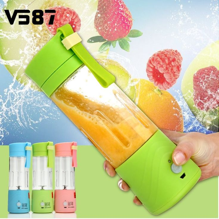 Electric Fruit Juicer Machine Mini Portable USB Rechargeable Smoothie Maker Blender Shake And Take Juice Slow Juicer 3 Colors