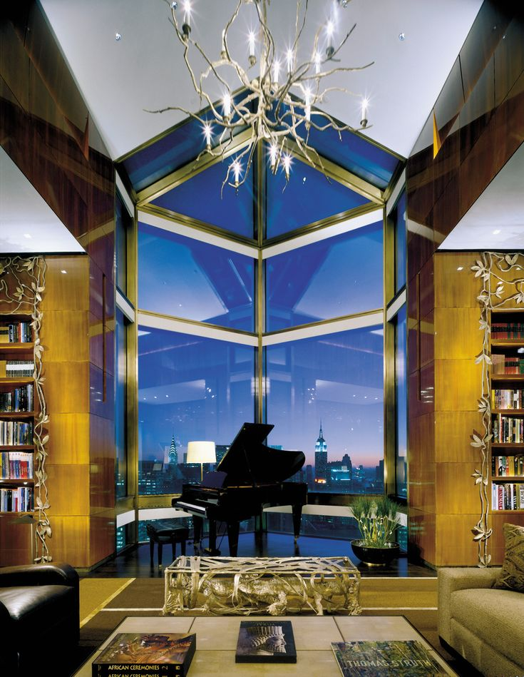 The Ty Warner Penthouse At The Four Seasons New York Is The Cityu0027s Most  Expensive Hotel Suite. The Nine Room Suite Features Cathedral Ceilings, ...