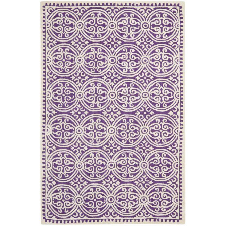 Safavieh Handmade Cambridge Moroccan Purple Ivory Rug By