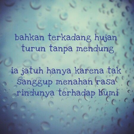 rindu hujan