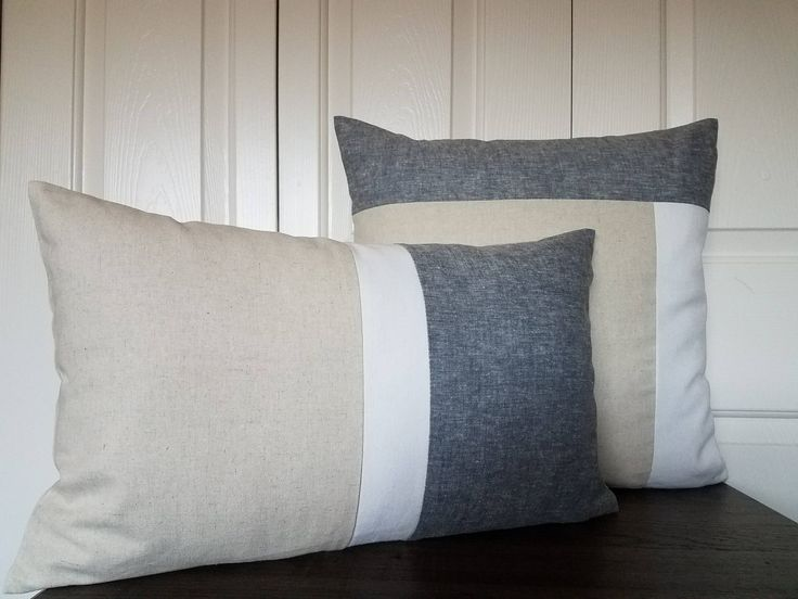Excited to share the latest addition to my #etsy shop: Set Contemporary Pillows-Linen Color Block Pillow Covers-Geometric Cushion-Throw Pillow-Decorative Pillow Cover-Colorblock Striped Pillow http://etsy.me/2FddpOt #housewares #pillow #gray #beige #mothersday