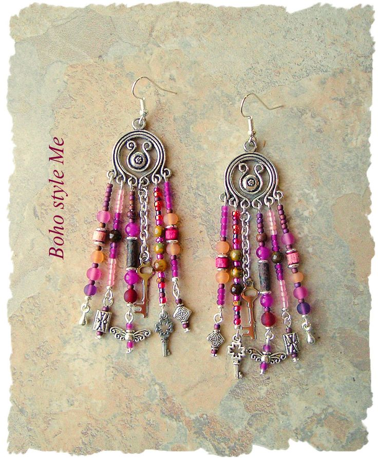 Boho Gypsy Style Earrings, Fairytale Assemblage Earrings, Chandelier Earrings, Bohemian Jewelry, BohoStyleMe, Kaye Kraus by BohoStyleMe on Etsy