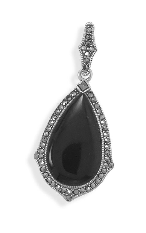 176 best marcasite jewellery images on pinterest jewerly silver black onyx and marcasite pendant aloadofball Image collections