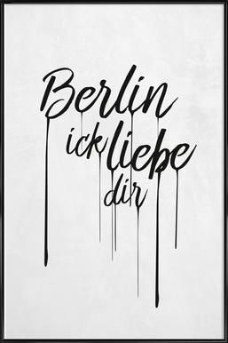 Berlin ick liebe dir - Amy & Kurt - Poster in kunststof lijst