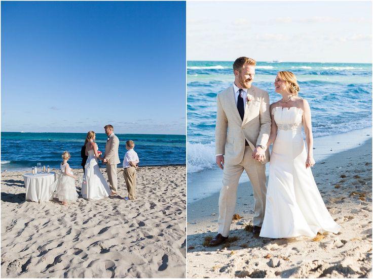 Intimate Beach Wedding Ceremony Near Grand Hotel In Miami Florida Destination