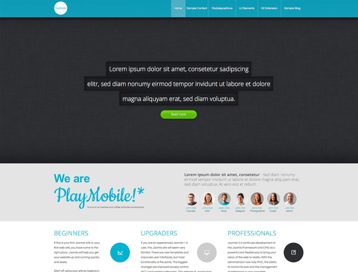 """PlayMobile"" early screenshot - Responsive Template for Joomla 2.5"