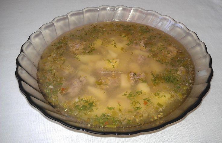 Суп с фрикадельками итальянская кухня
