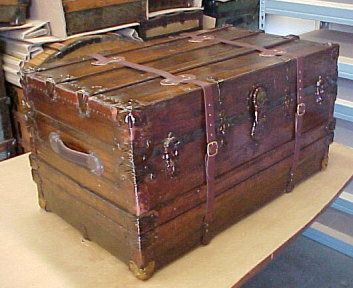Antique Trunks Refinished - Before and After