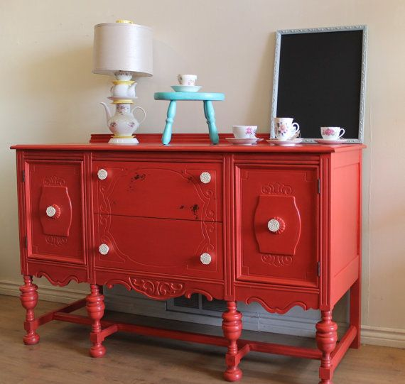 This Is The Poppy Colored Buffet I Was Referring To If Wanting To Paint  Buffet A Bold ?