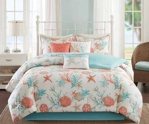 Beach Bedding List! Discover the best beach comforters, quilts, duvet covers, and more coastal bedding sets.