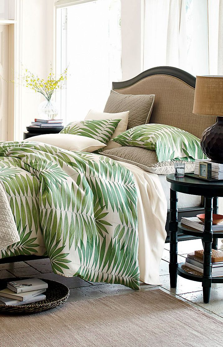 Bedding Design Organic Leaf  #decor #bedroom