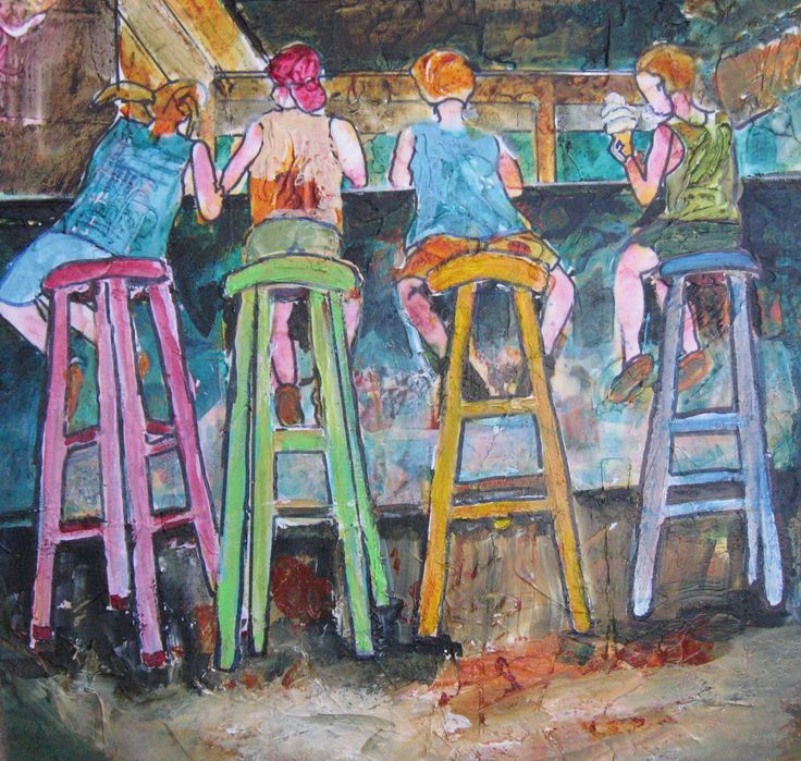The Ice Cream Parlor Acrylic Image 15 X 1`5 Matted 23 X 23 $375.00