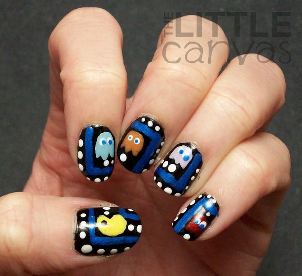 Nail Art Games For Girls Top Star Manicure Salon By Milos: Best 25+ Pac Man Nails Ideas On Pinterest
