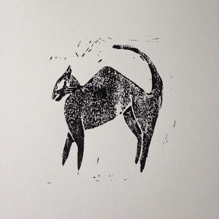 Mardy cat Print