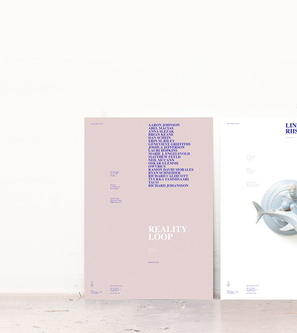 Identity and poster design for danish art studio VEST.VEST is a shared workspace, atelier and exhibition space founded by the three artists Line Busch, Line Riisager and Maya Stefania.