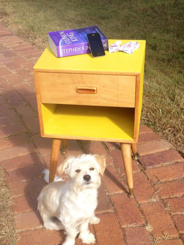 Refabbed bedside table using chalk paint