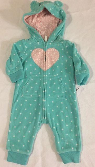 Carters Baby Girls Footless Pajamas Size 3 Mo., NWT! | eBay
