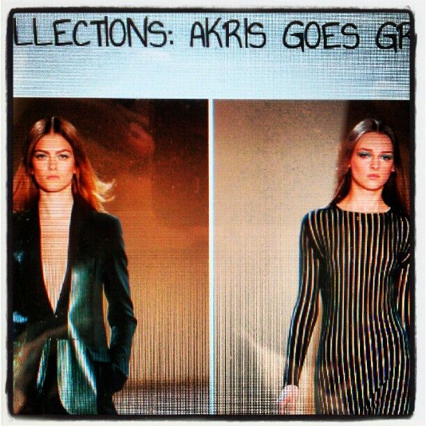 Akris post all finished and ready for tomorrows wolf blogging session #fashion #blog #aw12 #fashionweek #fashionshow #catwalk #green #KTWMAG