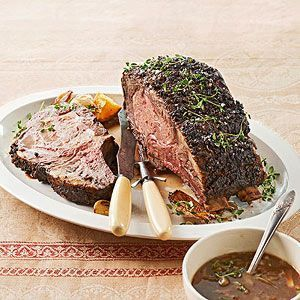 Holiday Rib Roast with Grain Mustard Sauce sounds delicious for any special meal.  [from BHG.com]