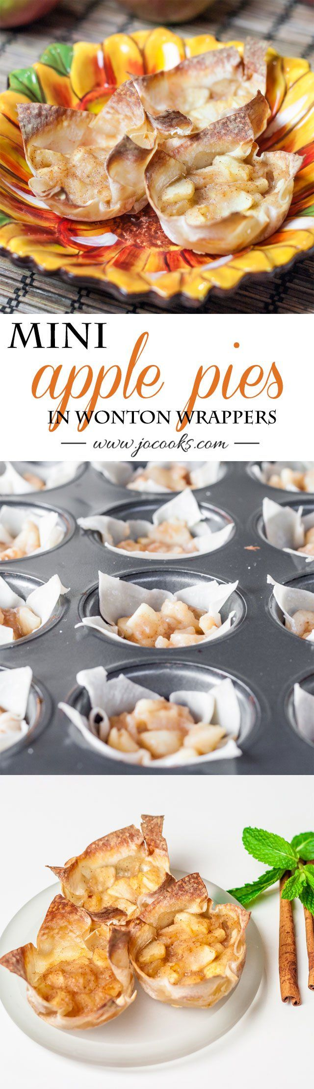 Mini Apple Pies in Wonton Wrappers (apple desserts weight watchers)