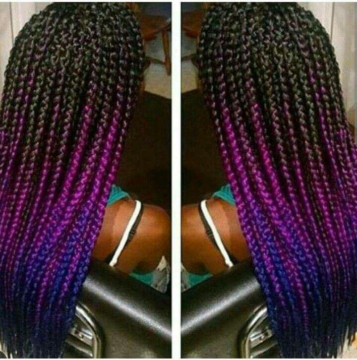 best 25 colored box braids ideas on black
