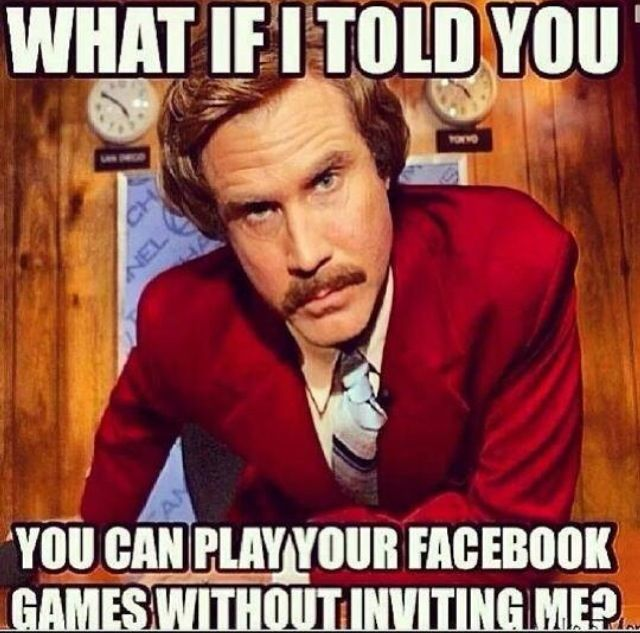 What if I told you You can play your Facebook Games without inviting me?
