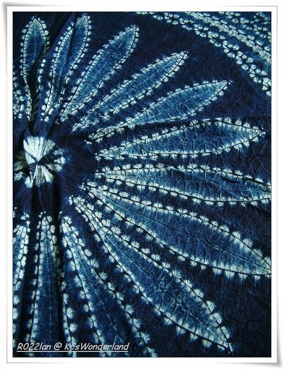 indigo tie and dye by keri {**AWESOME...simply STUNNING!!**}