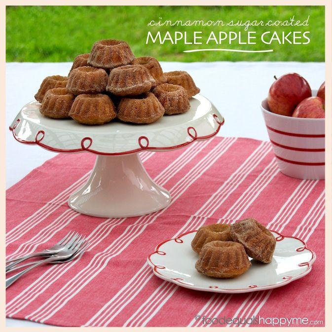 cinnamon sugar maple apple cakes | Desserts | Pinterest