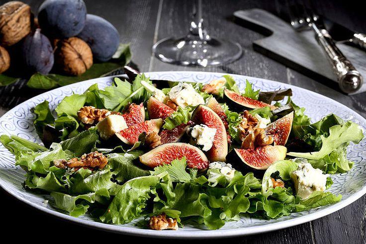 Salade vijgen en spek