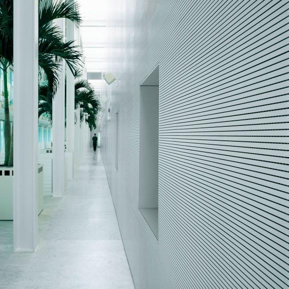Fantoni, modelo Topakustik, revestimientos acusticos para paredes y techos. Diseño para oficinas, restauración, hoteles y contract. (Espacio Aretha agente exclusivo para Madrid).