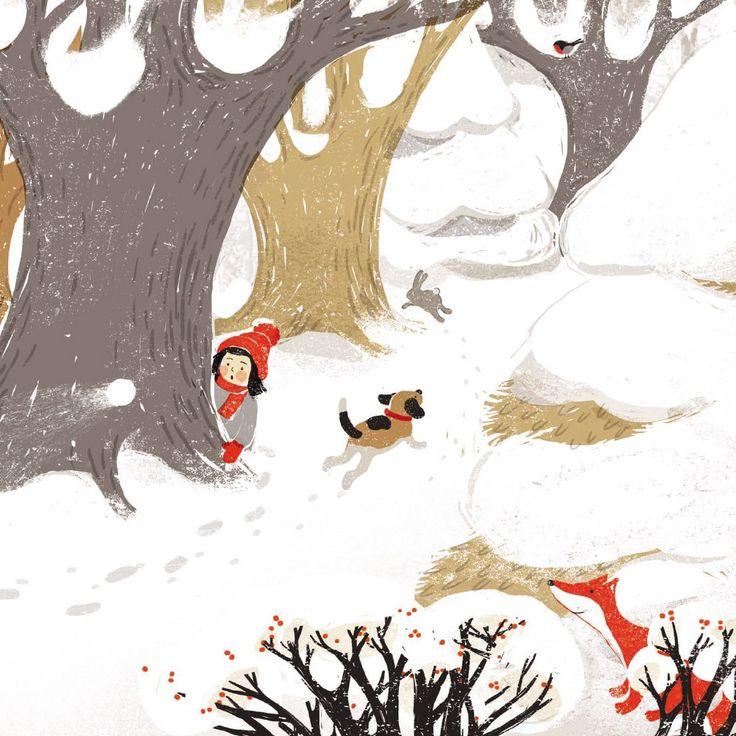 "Carolina Rabei «Снег»   ""Картинки и разговоры"""