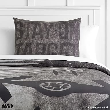 Star Wars(TM) Space Chase Duvet Cover, Full/Queen, Charcoal
