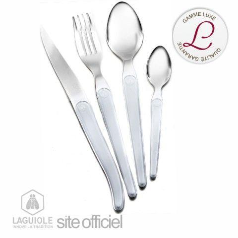 Coffret luxe design 16 pièces Cristal blanc