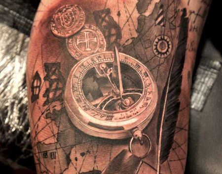 Permanent Adventure - Most Amazing Map Tattoos!