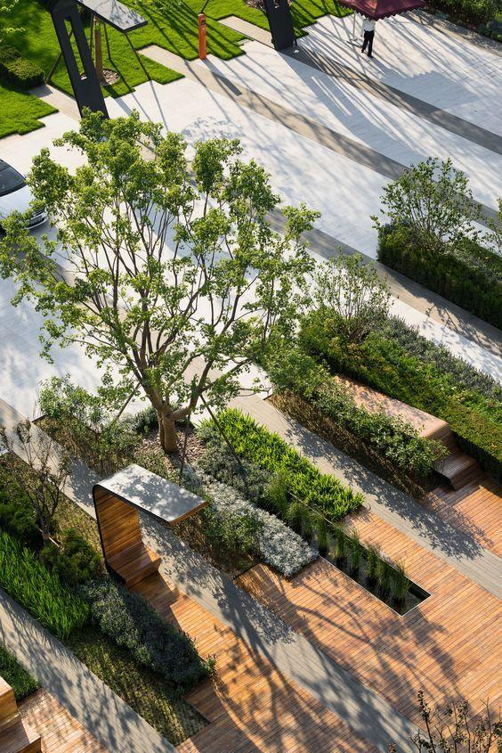 Beiqijia Business Technology District, Beijing, China. Landscape Architecture by Martha Schwartz Partners. www.marthaschwartz.com: