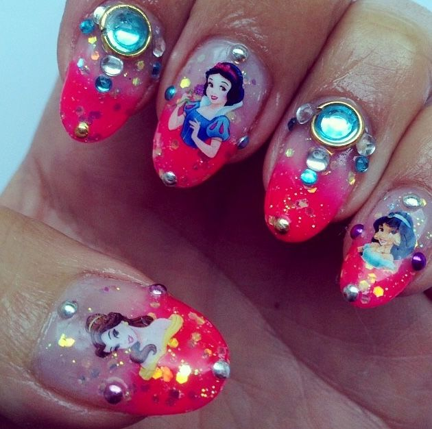 Dress Disney Princess Nails: 17 Best Ideas About Disney Princess Nails On Pinterest