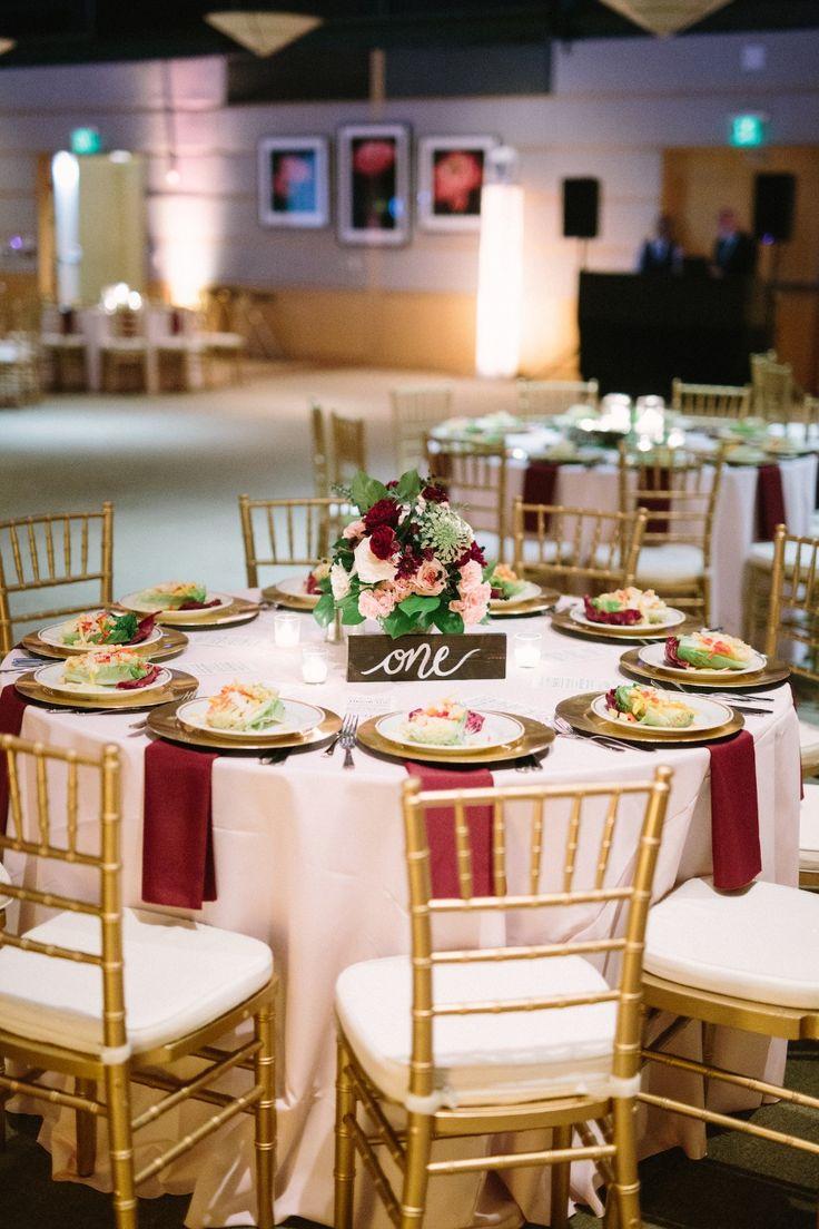 Navy and Burgundy Garden Party Wedding for Under 50k