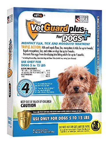 VetGuard Plus Flea & Tick Treatment for Small Dogs, 5-15 lbs, 4 Month Supply - http://www.bunnybits.org/vetguard-plus-flea-tick-treatment-for-small-dogs-5-15-lbs-4-month-supply/