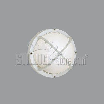 Boluce Alfa Round Parete/Soffitto Cod. 3020.00 Apparecchio per interni ed esterni. Colore: bianco, nero, antracite e silver.