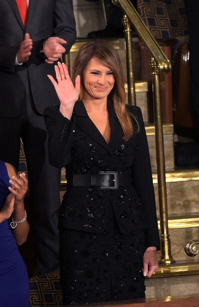The Outfit Melania Trump Wore During Her Husband's Speech Tonight Was All People Could Talk About 2'17