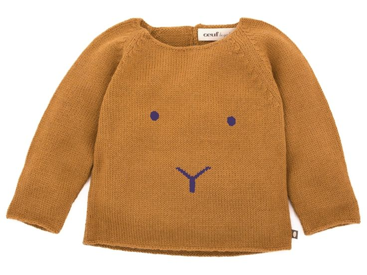 Oeuf NYC Bunny Sweater In Gold And Fig   Scandinavian Minimall