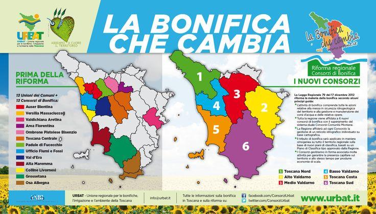 La bonifica che cambia. Riforma dei consorzi di bonifica della Toscana.