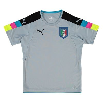Italy Home Goalkeeper Shirt 2016 - Kids Blue
