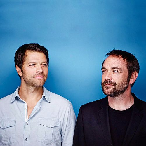 "Not enough of these two on my fandom board...""Misha Collins and Mark Sheppard for EW SDCC 2014"""