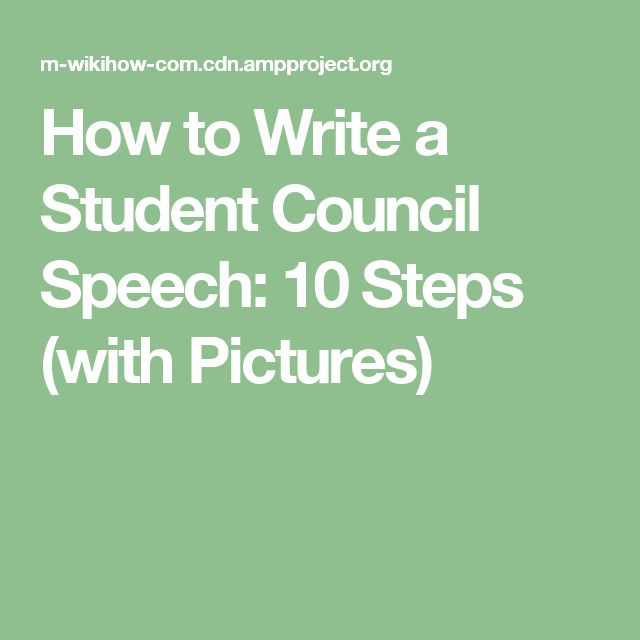 Speech Ideas for Student Council Roles