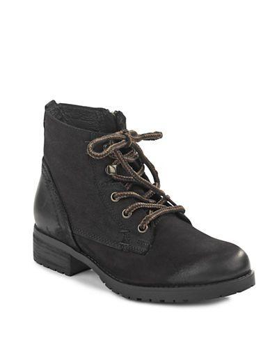 Chaussures   Bottes   Bottillon en cuir à fermeture éclair latérale   La Baie…